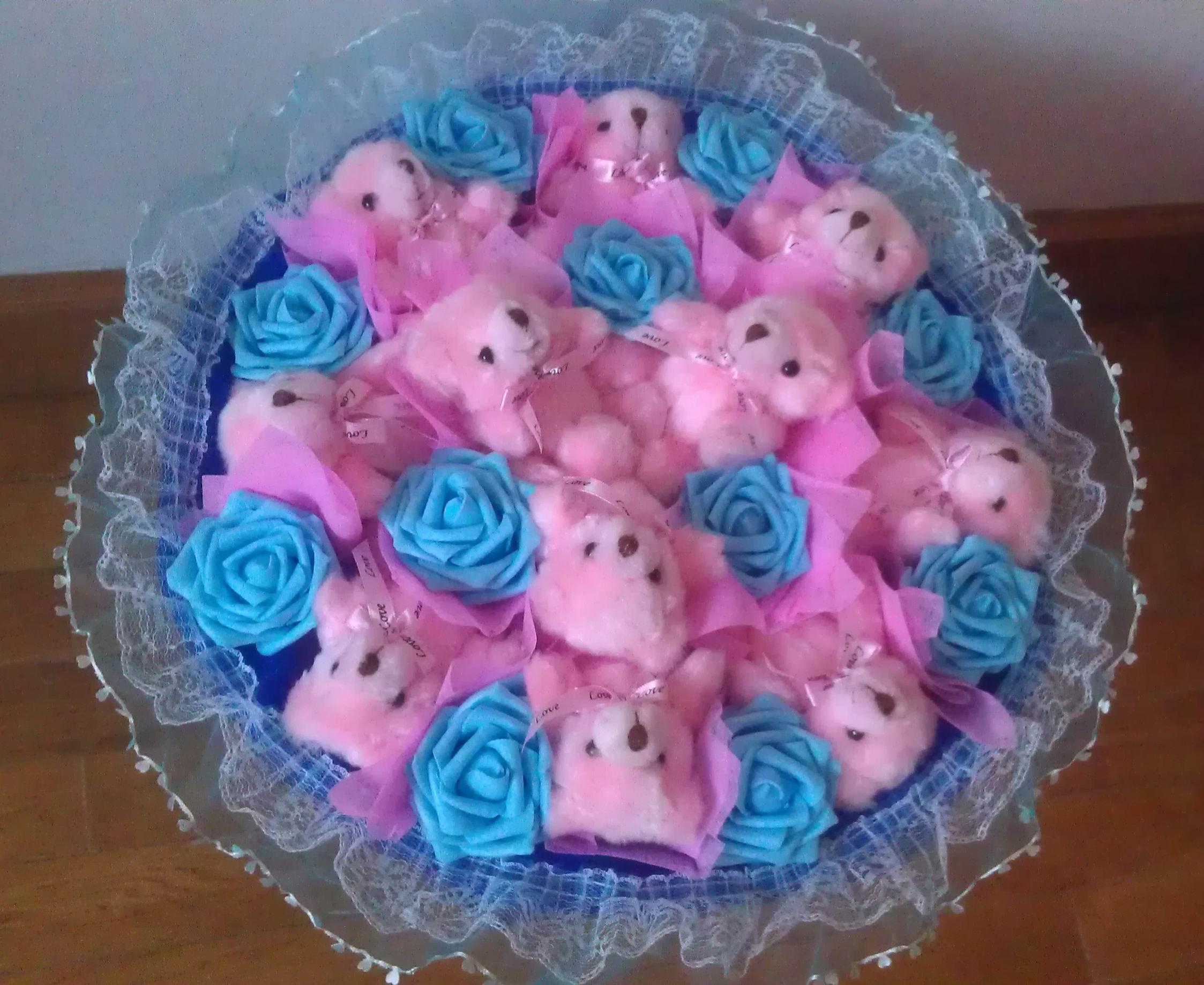 Все для сада Далянь мультфильм Тедди Xiong Gongzi букет цветов куклы куклы медведь букет роз Валентина подарки дня рождения