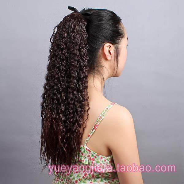 Горячей больше иностранных женщина наконечник стиль ложный винт долго волосы кудри кукуруза горячей захват стиль парик лист хвощ лесной коса бесплатная доставка
