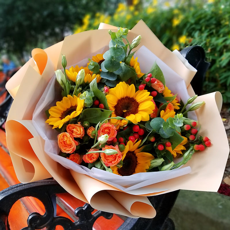 Sunflower Flowers Shanghai City Express Delivery Girlfriend Birthday Bouquet Men Hangzhou Nanjing Suzhou Changzhou