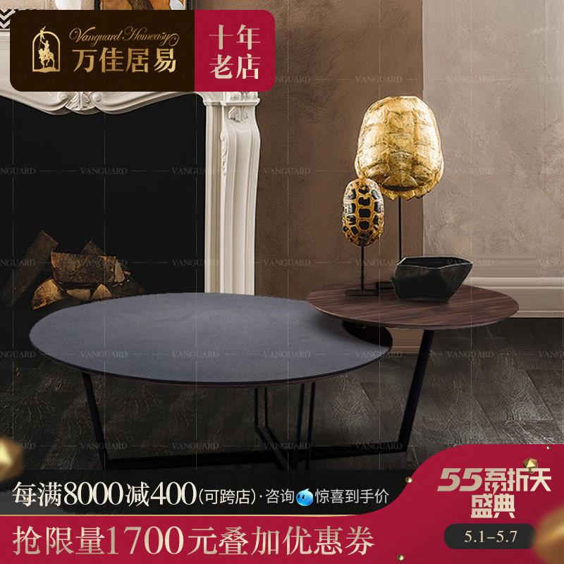 Bàn cà phê sắt rèn Bắc Âu thời trang cá tính sáng tạo đơn giản nội thất phòng khách gác xép phong cách công nghiệp thiết kế bàn tròn - Bàn trà