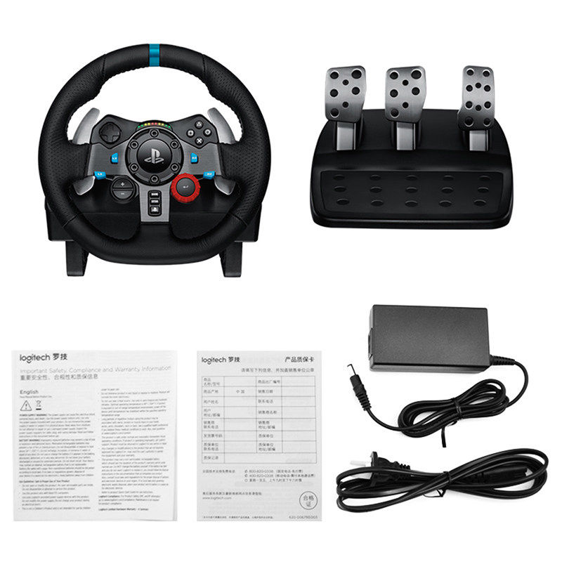 Logitech G29 force feedback 900 degrees game handbrake steering wheel ps4  computer racing can drift
