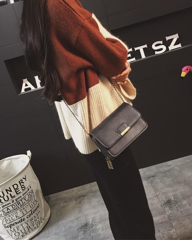 กระเป๋าหนังใบเล็กแฟชั่นเกาหลี ถือวินเทจคลัทช์มีสายโซ่สะพายยาว นำเข้า - พรีออเดอร์IS1074 ราคา1300บาท