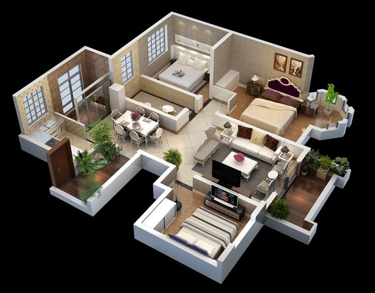 On Behalf Of Do 3d Aerial View Real Estate Interior Design Top The