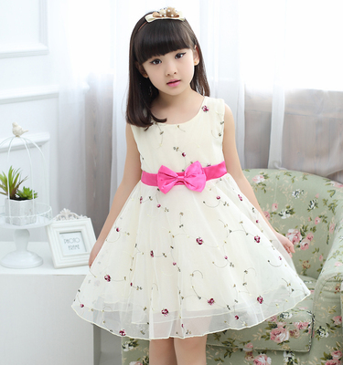 Children's clothing summer 2017 new children's dress in the big child floral skirt princess dress girl dress skirt