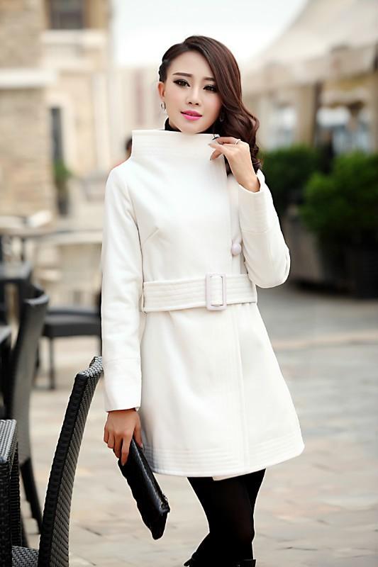 2013秋冬新款自然*专柜短款羊毛呢子大衣外套女装小外套女原单