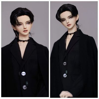 taobao agent Uncle Luo's bjd wig 3 points Uncle hand hook craft natural roll milk silk love bean hair 4.0 3 tops