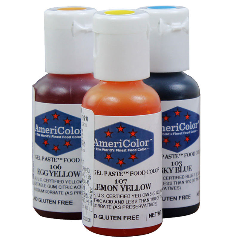 USD 6.21] American imports Americolor color paste ac food ...