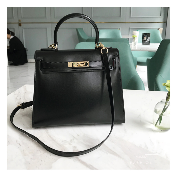 Bag - Sac Kelly en Cuir Box