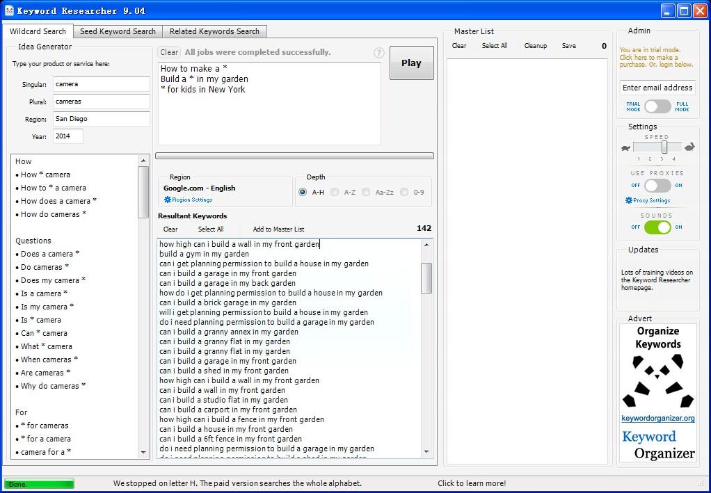 正版Keyword Researcher 12长尾关键字研究利器 低竞争长尾关键词