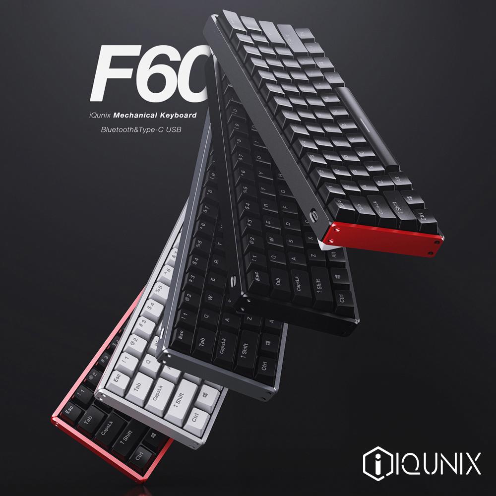 F60s蓝牙双模机械键盘无线60%金属全键无冲PBT键帽cherry轴IQUNIX
