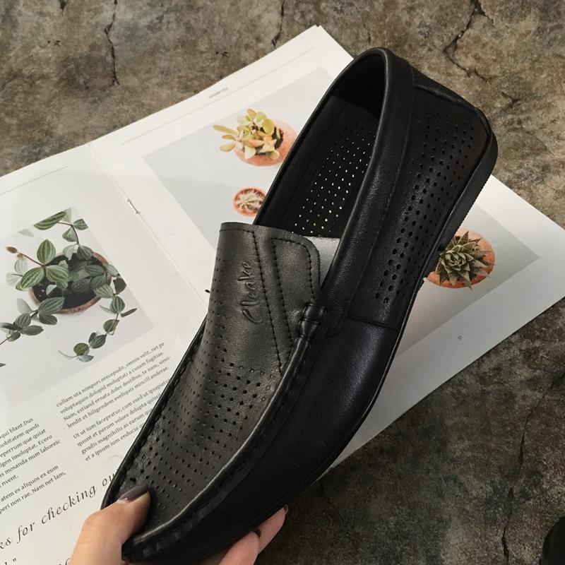Новая весна модель дерма мужская обувь глубокий ножной футляр темперамент квартира западный стиль бездельник обувь воловья кожа одиночный разряд обувной