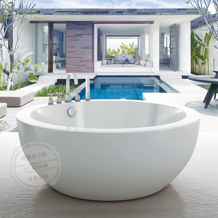 {Y&G創意工坊} 推薦進口雙層亞克力圓形獨立浴缸大尺寸雙人酒店百搭浴盆澡盆S6A39
