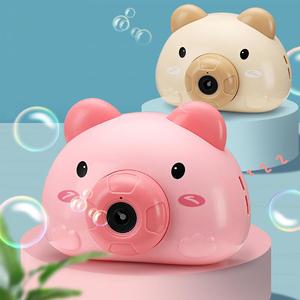 吹泡泡机相机儿童网红少女心全自动泡泡枪器小猪玩具泡泡水照相机