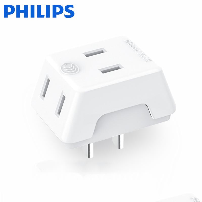 Philips/飞利浦 一转三 插座 9.8元包邮