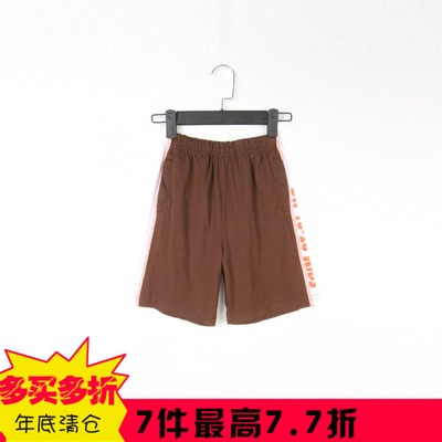Lanmeite summer new V genuine boys fitted pure breathable line stitching elastic shorts
