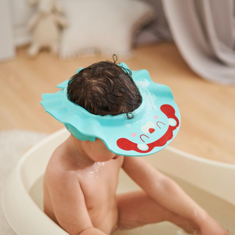 宝宝洗头神器护耳洗头帽子婴儿童小孩幼儿防水洗澡硅胶洗发帽浴帽
