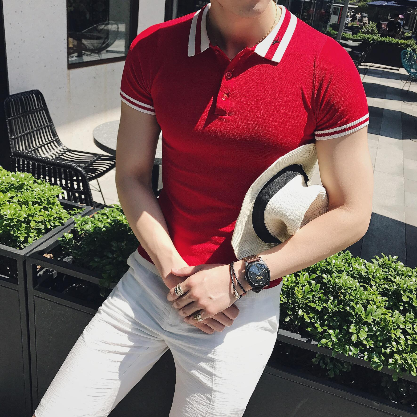 Usd 4743 Summer Dress Yuppie Gentleman Men Casual Short Sleeved T