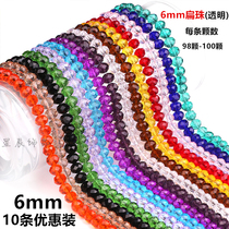 Beads Crystal Beads Jewelry Glass abacus Wheel Bead Accessories