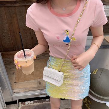 夏季气质bling闪闪时尚洋气休闲半身裙