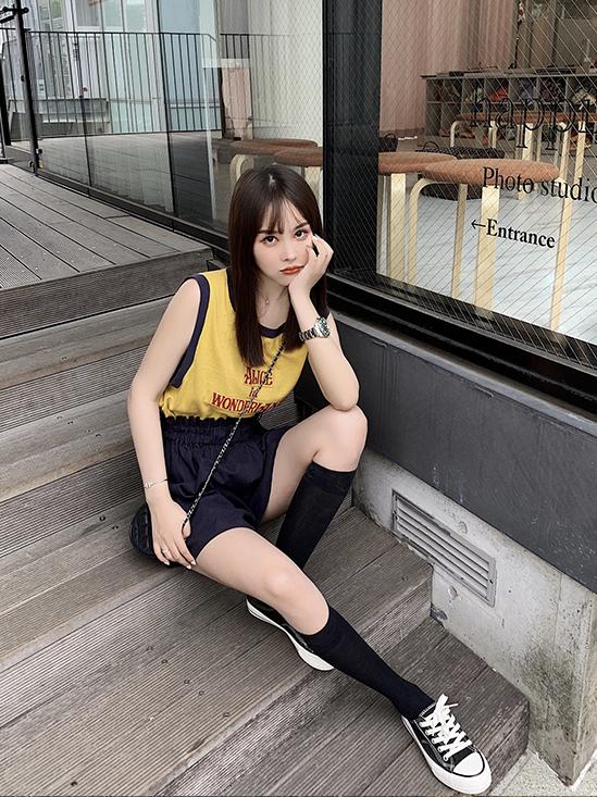 网红A字时尚洋气休闲裤子