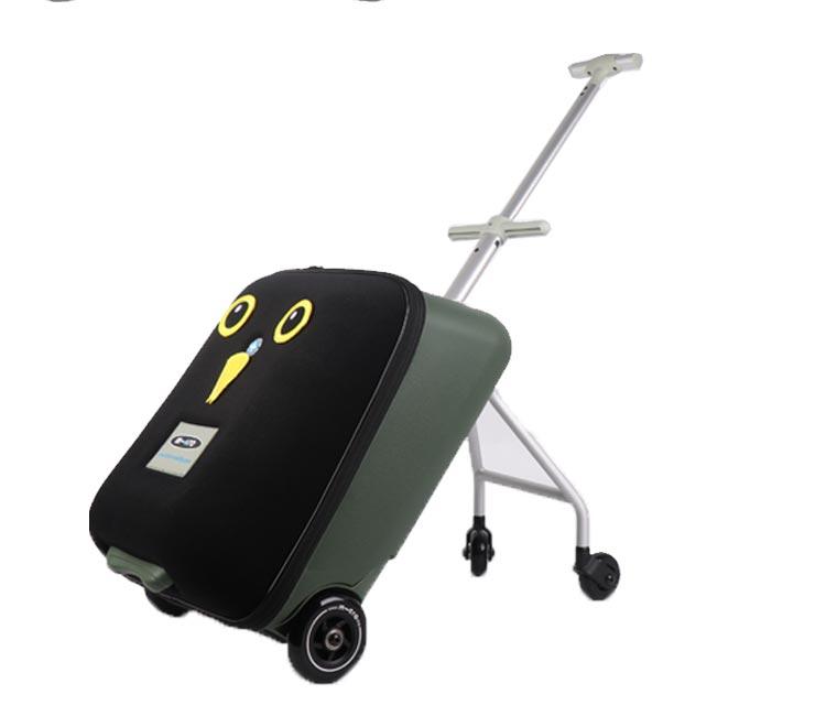米高儿童行李箱瑞士迈古懒人箱宝宝可坐骑登机旅行箱拉桿箱详细照片