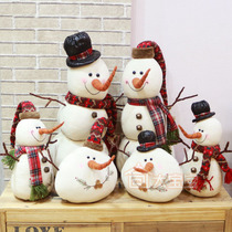 Christmas decorations Cotton hemp fabric snowman doll Decoration supplies Props