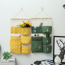 Storage hanging bag wall hanging fabric hanging pocket dormitory Oracle dormitory clutter storage