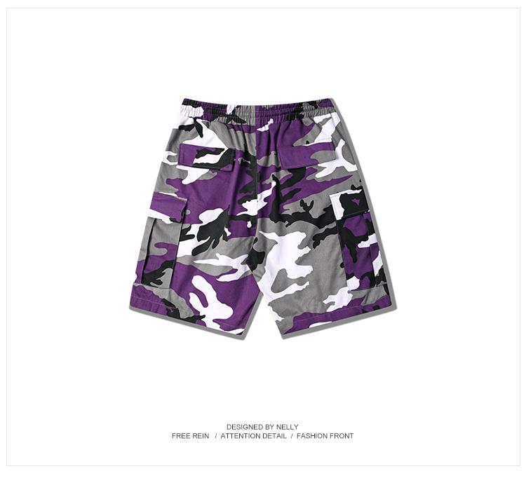 Mùa hè ngụy trang quần nam quần short mùa hè quần âu quần bảo hộ lao động quần bãi biển năm điểm ống túm đa túi thủy triều