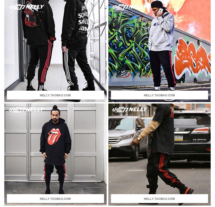 Châu âu và Hoa Kỳ cao đường phố hipster quần âu cậu bé của bạn tt tím ba lan quần quần nam giới và phụ nữ hip hop chạy bộ quần quần