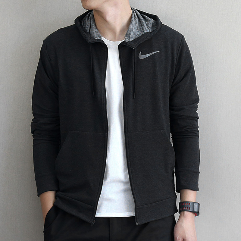 a2a03aa46d4b Nike Men s 2018 autumn and Winter new sports casual jacket loose cardigan  hooded jacket 742211-010