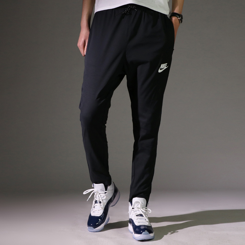 Nike men's trousers 2018 summer new style weave quick-dry sports pants nine  points pants straight leg running pants 861761-010