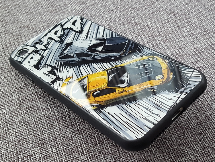 online store 3b087 d7106 0 Anime Initial D Tempered Glass Phone Cases Covers Huawei P20 Pro, Huawei  P20, Xiaomi Mi 8, Xiaomi Mi 6, iPhone XR, iPhone XS Max, iPhone X / iPhone  ...