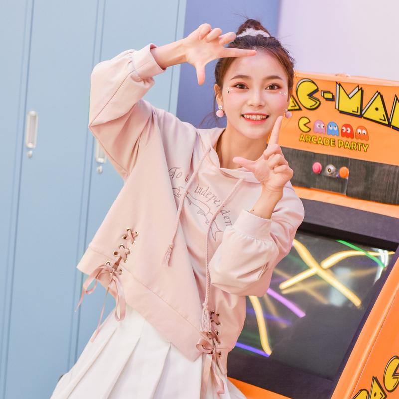 Оригинальный дизайн женщина племя небольшой свежий свитер свободный студент bf куртка 2018 новый корейский ulzzang