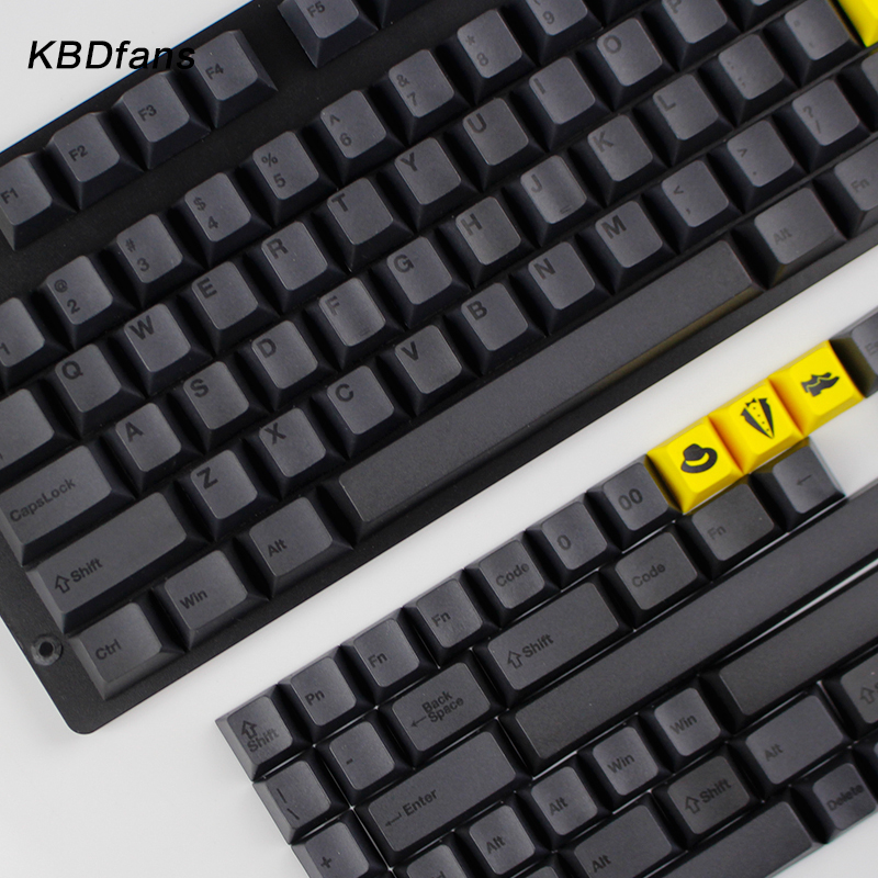 KBDfans pbt sublimation keycap filco magic duck mechanical keyboard keycap  black engraved Daquan keycap