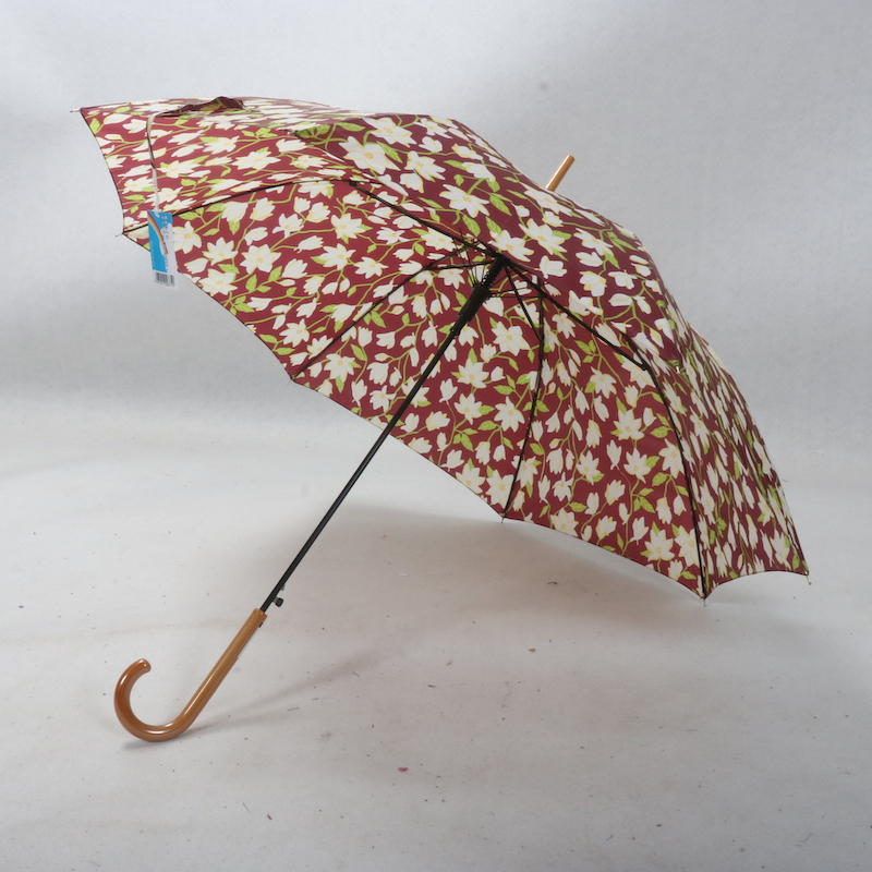 日本boueboy&gye百合柄雨伞元素木纹花卉长柄女士自动自然