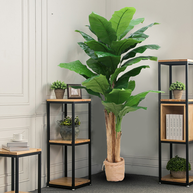 Simulation Plant Fake Banana Tree Pot Indoor Decoration Green Plant Fake  Tree Living Room Fake Flower