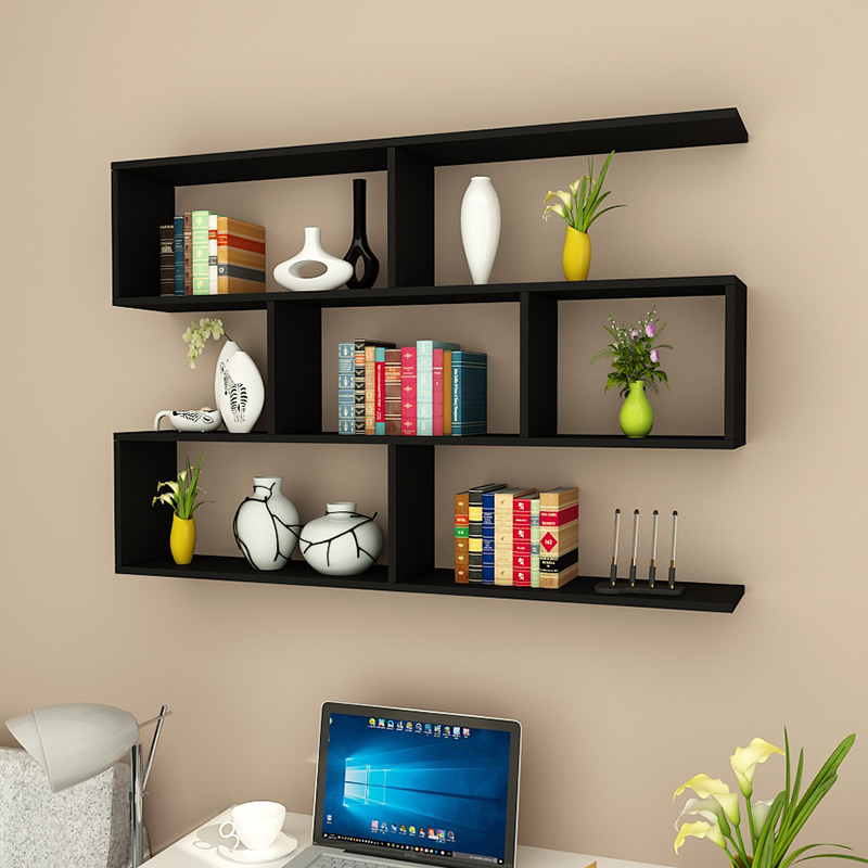 Creative wall partition shelf living room bedroom modern minimalist wall  hanging decorative shelf bookcase cabinet wall cabinet