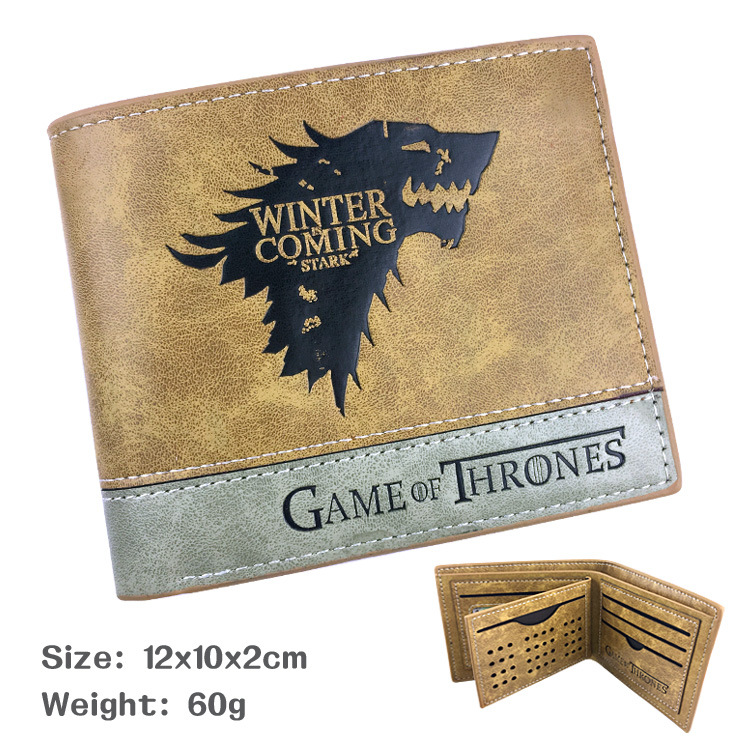Anime new hot game of Thrones game of power Tangerian leather wallet in stock