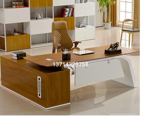 深圳办公家具厂家直销实木油漆大班桌大班台老板桌经理台