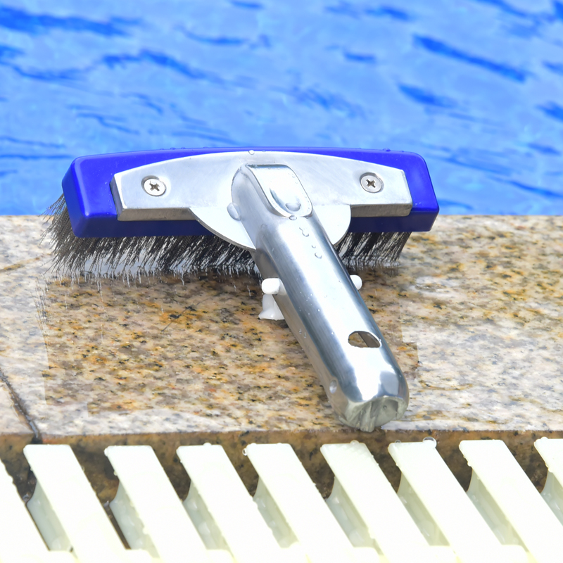 Pool Pool Low Brush Pool Wall Wire Brush Cleaning Cleaning Brush 10 inch  Swimming Pool Fish Pond Aluminum Back Pool Brush Tool