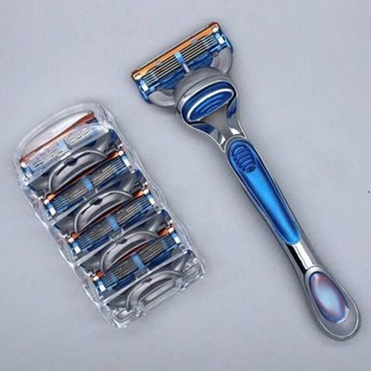 【五层刀片】吉利雅锋束5刀片通用手动锋5剃须刀刮胡刀头男胡子刀