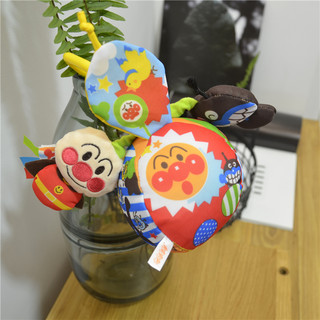 Japanese Anpanman 6-12 months 3 baby toys newborn cloth bed hanging baby carriage hanging hand catch ball