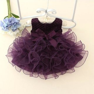 One year old baby dress girl pengpeng princess dress flower girl wedding dress daughter dress foreign style baby birthday dress