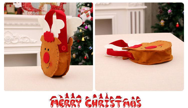 Nueva bolsa de dulces de Navidad no tejida bolsa de regalo NHMV155562