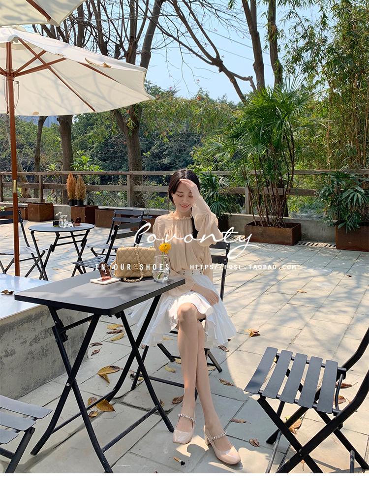 【老果家】温柔少女心谬小姐海星芭蕾舞鞋玛丽珍单鞋女復古详细照片