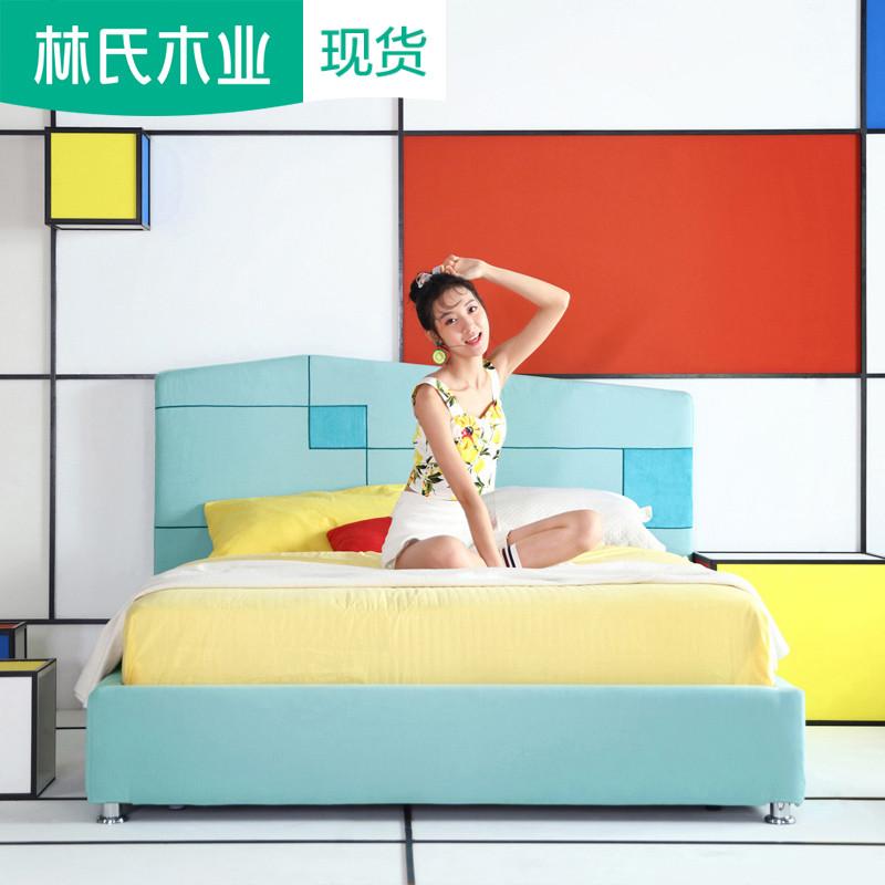小戶型臥室可拆洗布床現代高箱床簡約儲物雙人床布藝床1.5米RAE1A