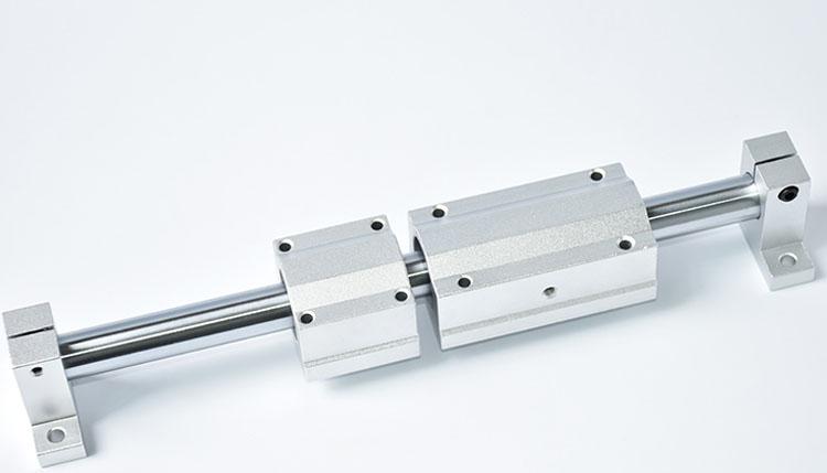 导向轴闭口箱式轴承座 光轴导轨耐高温石墨加长滑块SCS10 12 20(图4)