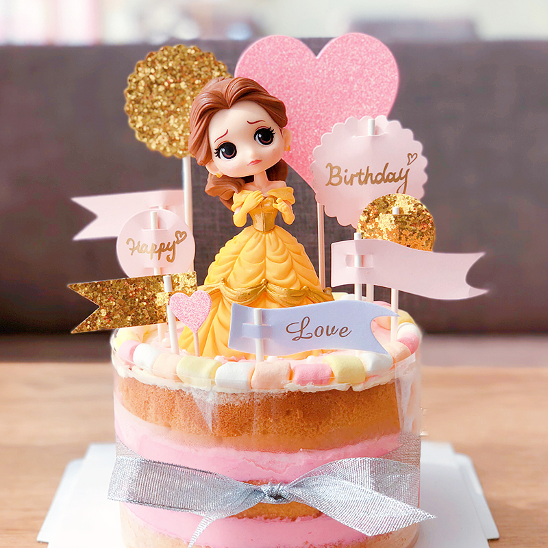 Usd 647 Party Decoration Cake Plug In Large Princess Cartoon Doll