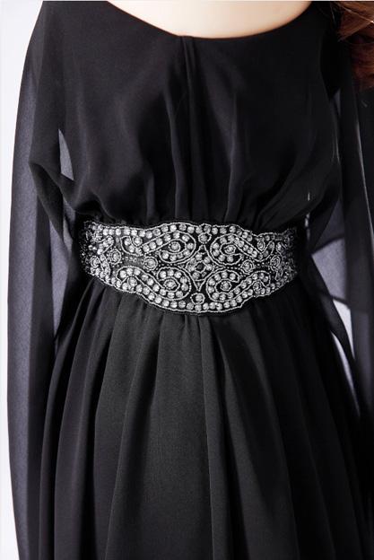 Вечерние платья 2018 новый стиль банкет вечернее платье тонкий большой код значительно тонкий платье одно плечо ногтей бусины ежегодное совещание платье короткий параграф вечернее платье