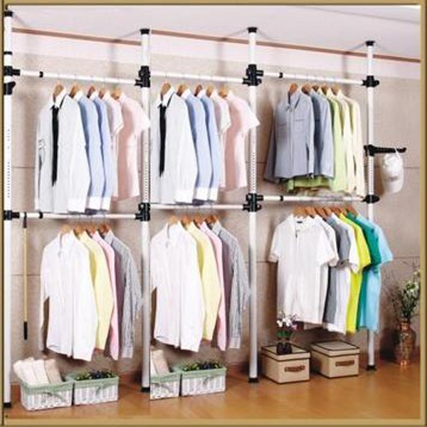 Stand On Top Of The World Clothes Rack Storage Rack Floor Hanging